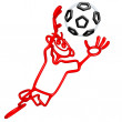 Doodle GuyZ Soccer Football - Stock Photo