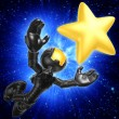 Mini Astronaut Reaching For A Star — Stock Photo #12398426
