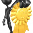 Stock Photo: Gold 1st Place Ribbon
