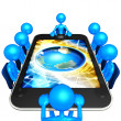 Touch Screen Meeting — Stock Photo #12399876