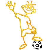 Doodle GuyZ Soccer Football — Stock Photo
