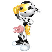 Mini Gold Guy Cow — Stock Photo