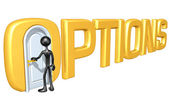 Options Door — Stock Photo