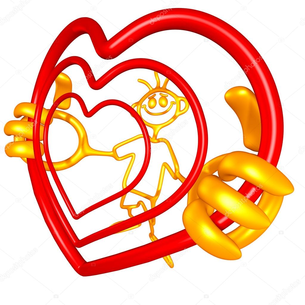 Doodle Guyz Valentine Heart — Stock Photo #12397800