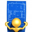 Looking At Home Construction Blueprints — Stock Photo #12405655