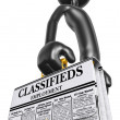 Stock Photo: Employment Classifieds Briefcase