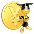 Mini O.G. Graduate With Gold Coin - ストック写真