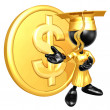 Stock Photo: Mini O.G. Graduate With Gold Coin