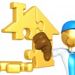 Gold Home Puzzle Concept — Stock Photo #12408351