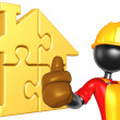 Gold Home Puzzle Concept — Stock Photo #12408375