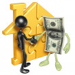 Gold home puzzle and money — Stock Photo #12408411