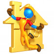 Gold Home Puzzle — Stock Photo
