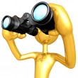 Using Binoculars — Stockfoto
