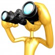 Using Binoculars — 图库照片