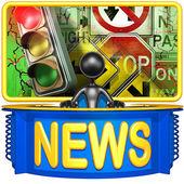 Traffic Report News — Stock Photo