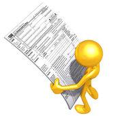 税务表格 — 图库照片