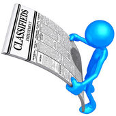 Reading Employment Classifieds — Stock Photo