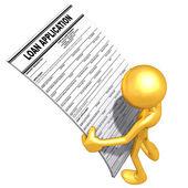 Okuma kredi uygulamaları — Stok fotoğraf