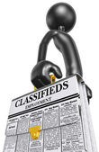 Employment Classifieds Briefcase — Stock Photo