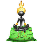 Djinn On Road Map — Stock Photo