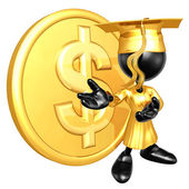 Mini O.G. Graduate With Gold Coin — Stock Photo