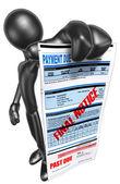 Przedawnione rachunek — Zdjęcie stockowe