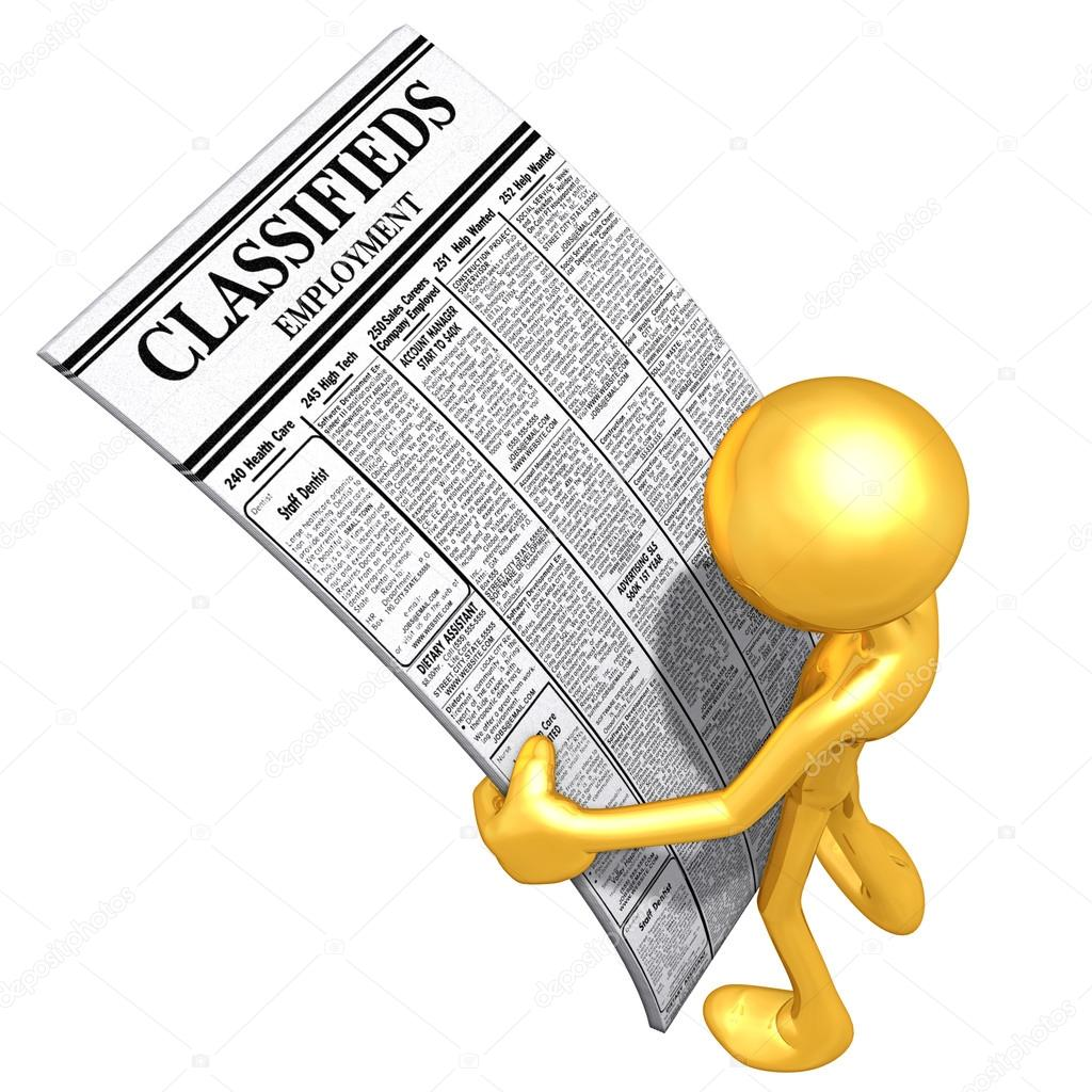 Reading Employment Classifieds — Stock Photo #12405160