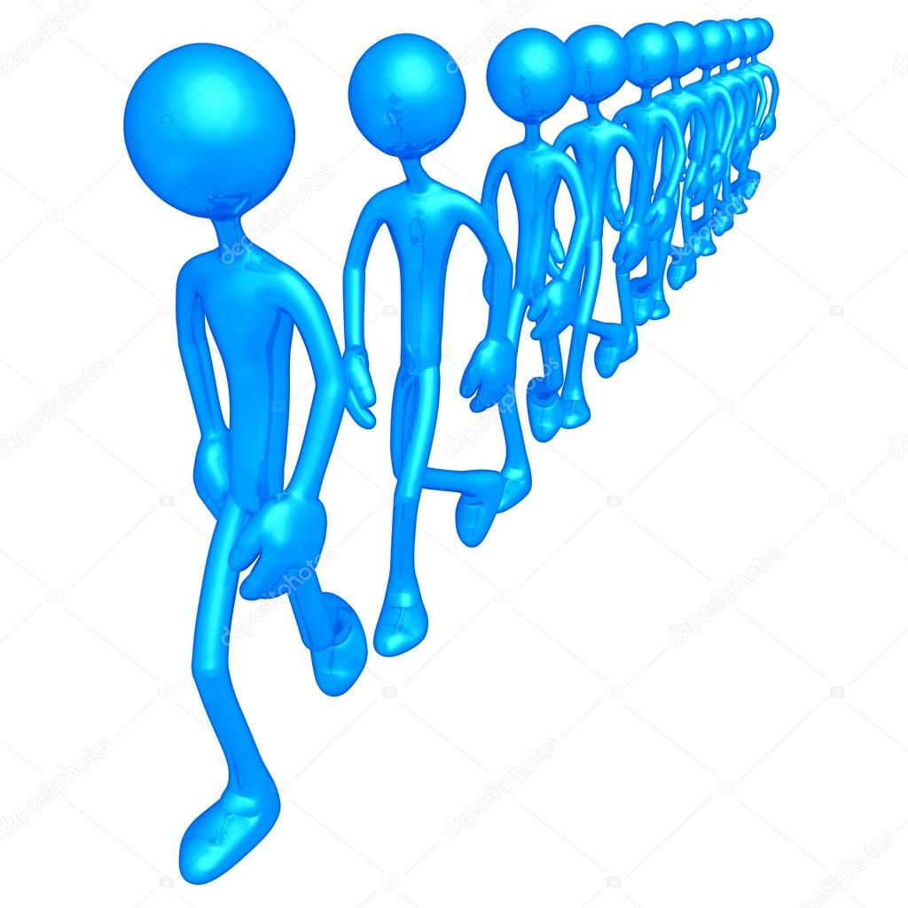 Walking In Line — Stock Photo #12405899