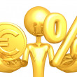 Stock Photo: Gold Coin And Percentage