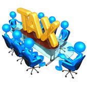 Koncepcja podatku spotkanie — Zdjęcie stockowe