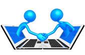 Online handshake — Stock Photo