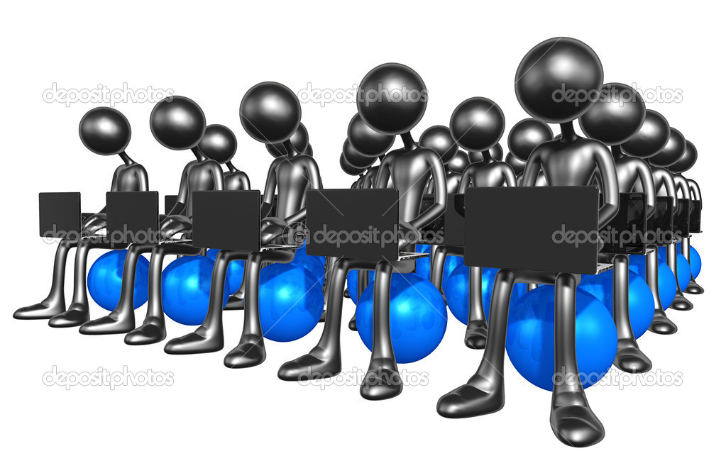 Network workgroup — Stock Photo #12410967