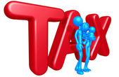 Familia con impuestos — Foto de Stock