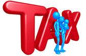 家庭与税 — 图库照片