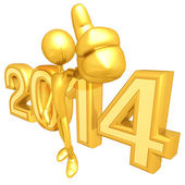 New Year 2014 Gold — Stock Photo