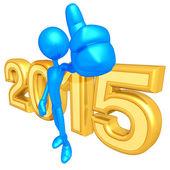 Happy new year golden 2015 — Stock Photo