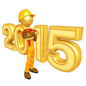 Happy new year golden 2015 — Stockfoto