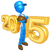 Happy new year golden 2015 — Foto Stock