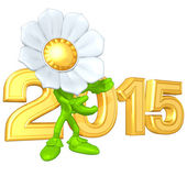Happy new year golden 2015 — 图库照片