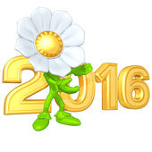 Happy new year golden 2016 — Stockfoto