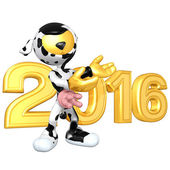 Happy new year golden 2016 — 图库照片