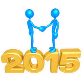Happy new year golden 2015 — Stock Photo