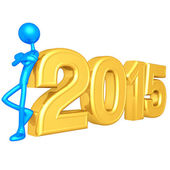 Happy new year golden 2015 — Foto de Stock