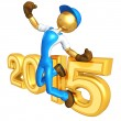 Stock Photo: Happy new year golden 2015 constructor