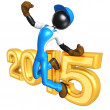Stock Photo: Happy new year golden  constructor 2015