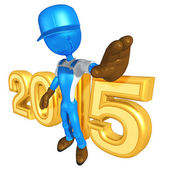 Happy new year golden 2015 constructor — Stock Photo