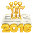 Happy new year golden business 2016 — Stock Photo #41580991