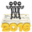 Happy new year golden business 2016 — Stock Photo #41580997
