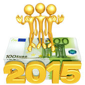 Happy new year golden business 2015 — Stock Photo