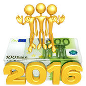 Happy new year golden business 2016 — Stock Photo